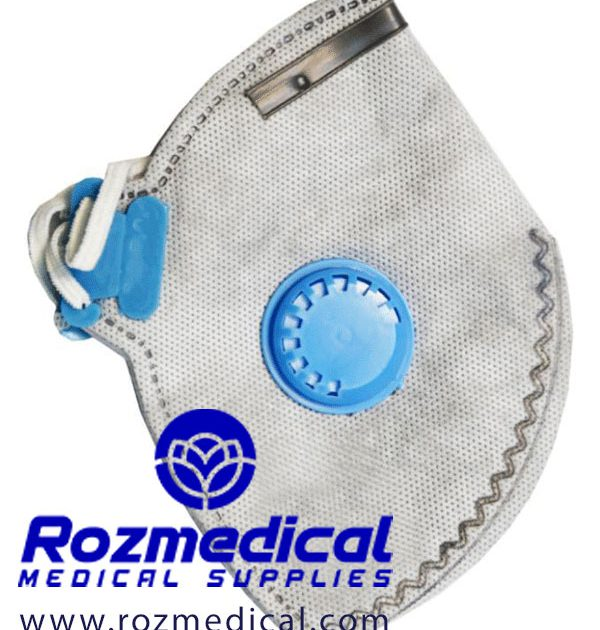 ماسک سوپاپ دار کربن دار FFP2
