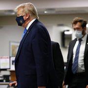 ترامپ ماسک زد